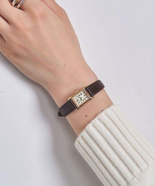 UNITED ARROWS / ユナイテッドアローズ 腕時計 | UBCB スクエア レザー 腕時計 GLD† | 詳細9