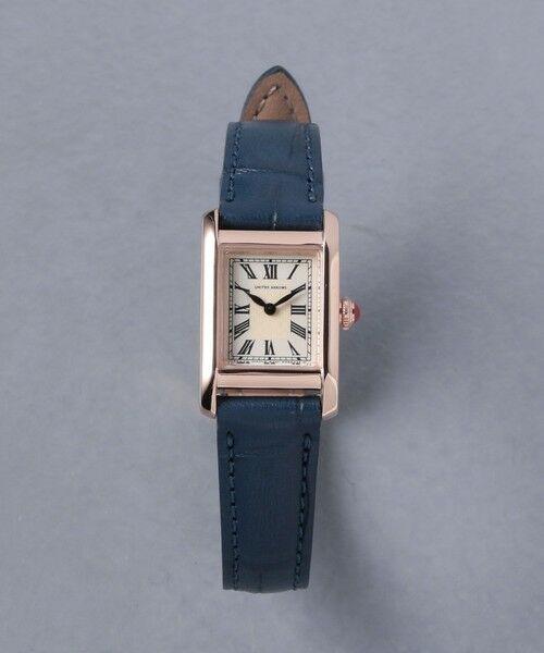UNITED ARROWS / ユナイテッドアローズ 腕時計 | UBCB スクエア レザー 腕時計 GLD†(NAVY)