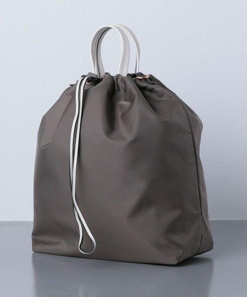 UNITED ARROWS / ユナイテッドアローズ トートバッグ | 【一部別注】<ORSETTO(オルセット)>NY/LTH ドローストリング バッグ | 詳細1