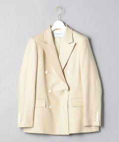 ナチュラルな風合いのリネン素材を使用したブレザー。<br>フロント、袖口に配置されたエンブレム入りのホワイトカラーボタンがアクセントに。<br>オンオフ問わず様々なシーンに着回しいただける一着です。<br><br>【生地感】<br>--------------------------<br>裏地:あり<br>透け感:なし<br>生地の伸び:なし<br>光沢感:なし<br>--------------------------<br><br><font color=purple>店舗へお問い合わせの際は、全国のUNITED ARROWS各店舗まで下記の品名/品番をお申し付けください。<br>品名:〇UWSC L BLAZER 6B 66  品番:15221442819</font>