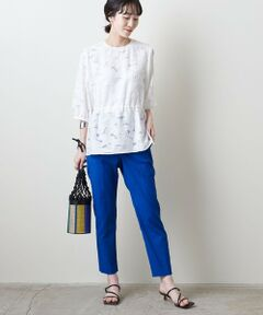 清涼感のある素材が特徴のクロップド丈のスリムパンツ。<br>足首がのぞくレングスに裾に向けて細身になるテーパードシルエットがレッグラインを美しく見せてくれます。<br>豊富なカラー展開で汎用性の高い一着です。<br><br>【生地感】<br>--------------------------<br>裏地:なし<br>透け感:なし<br>生地の伸び:ややあり<br>光沢感:なし<br>--------------------------<br><br>※ 同型で品番違いのご用意もございます。<br>品名:UBCドビー カラー スリムパンツ 21SS 品名:15141474904<br><br><font color=purple>店舗へお問い合わせの際は、全国のUNITED ARROWS各店舗まで下記の品名/品番をお申し付けください。<br>品名:〇UBC P/C DBY COL SLM 65  品番:15141474904</font>