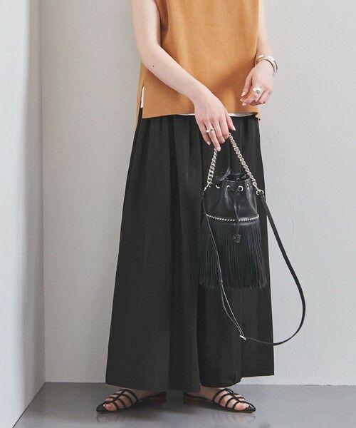 UNITED ARROWS / ユナイテッドアローズ ロング・マキシ丈スカート | UWFM タフタ ギャザー スカート 2 | 詳細2