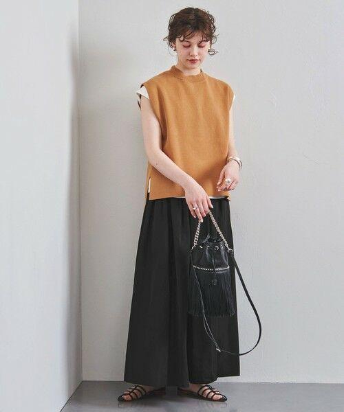 UNITED ARROWS / ユナイテッドアローズ ロング・マキシ丈スカート   UWFM タフタ ギャザー スカート 2(BLACK)