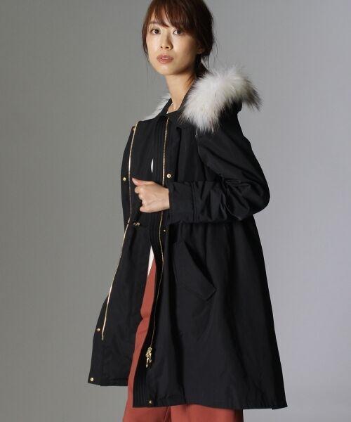 UNTITLED / アンタイトル ミリタリージャケット・コート | オリオンタフタ モッズコート(ブラック(019))