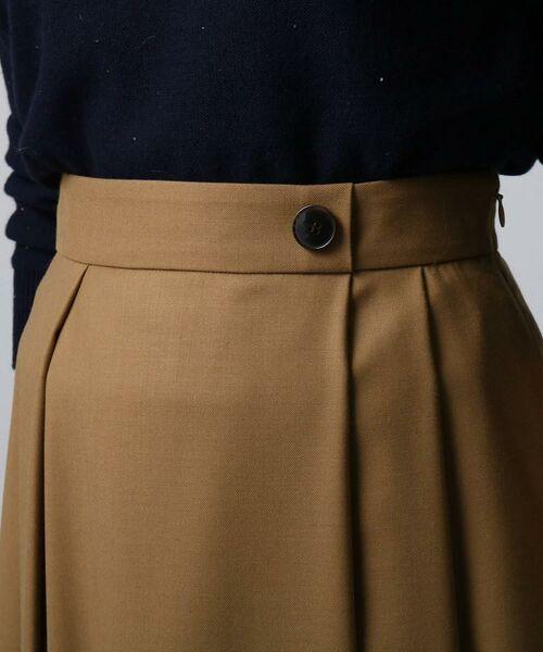UNTITLED / アンタイトル ミニ・ひざ丈スカート | ツイルタックフレアスカート | 詳細5
