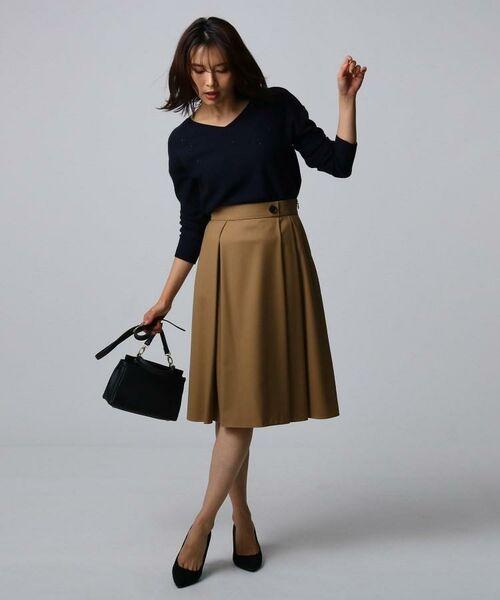 UNTITLED / アンタイトル ミニ・ひざ丈スカート | ツイルタックフレアスカート | 詳細8
