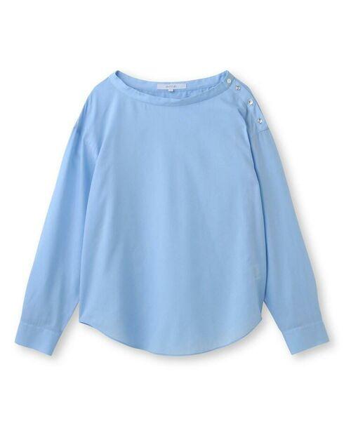 UNTITLED / アンタイトル シャツ・ブラウス | [L]肩ボタンスヴィンコットンシャツ | 詳細1