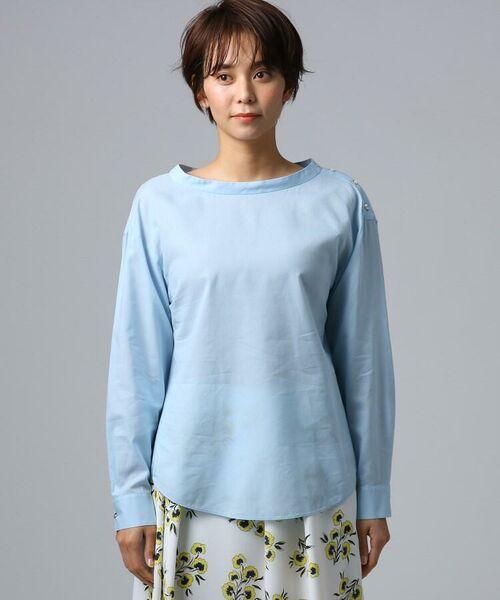 UNTITLED / アンタイトル シャツ・ブラウス | [L]肩ボタンスヴィンコットンシャツ | 詳細2