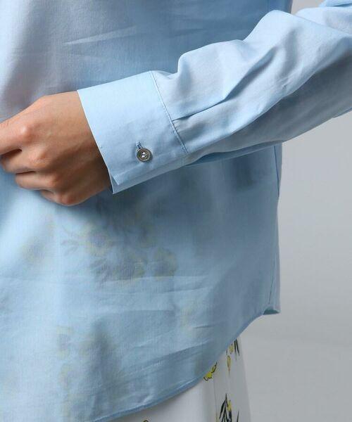 UNTITLED / アンタイトル シャツ・ブラウス | [L]肩ボタンスヴィンコットンシャツ | 詳細7