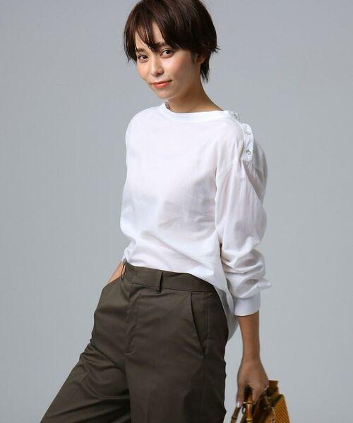 UNTITLED / アンタイトル シャツ・ブラウス | [L]肩ボタンスヴィンコットンシャツ(オフホワイト(003))