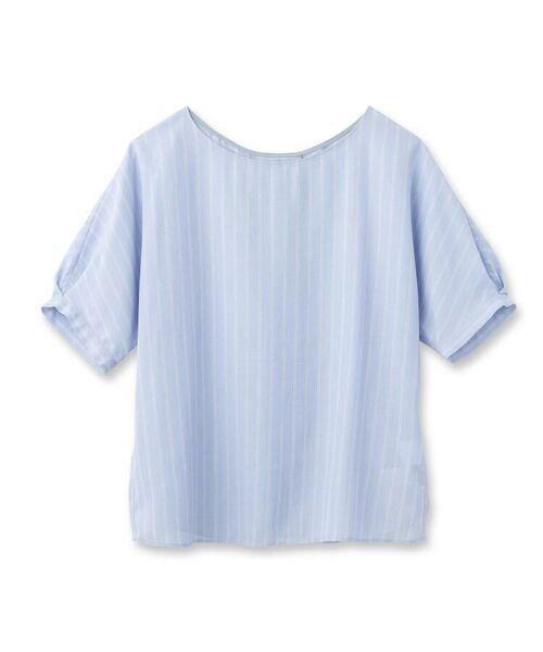 UNTITLED / アンタイトル シャツ・ブラウス   [L]【洗える】クルーズストライプスクエアシャツ   詳細2