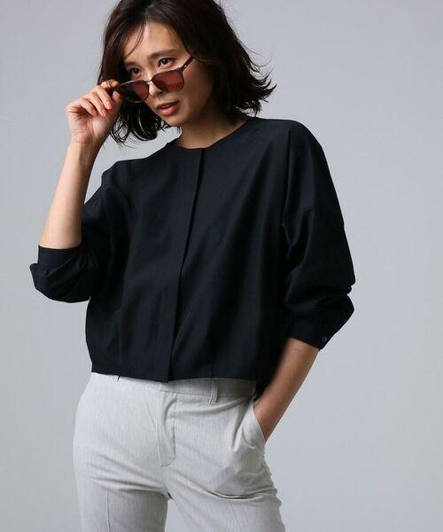 UNTITLED / アンタイトル シャツ・ブラウス | [L]【洗える】ライトタンブラークロスシャツジャケット(ブラック(019))