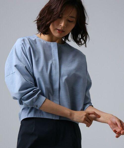 UNTITLED / アンタイトル シャツ・ブラウス | [L]【洗える】ライトタンブラークロスシャツジャケット(ライトブルー(091))