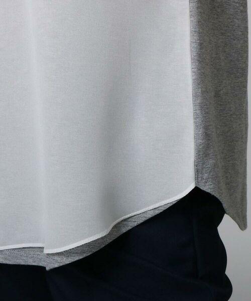 UNTITLED / アンタイトル カットソー   [L]【洗える】オーガンジー天竺ロゴプルオーバー   詳細8