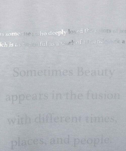 UNTITLED / アンタイトル カットソー   [L]【洗える】オーガンジー天竺ロゴプルオーバー   詳細9
