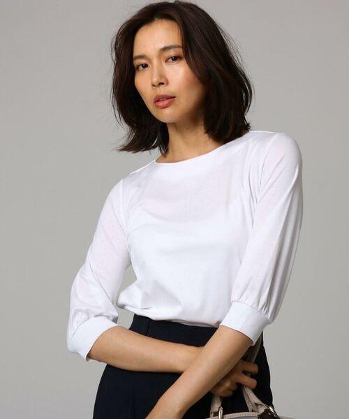 UNTITLED / アンタイトル カットソー   ギザリヨセルスムースカフス袖プルオーバー(ホワイト(002))