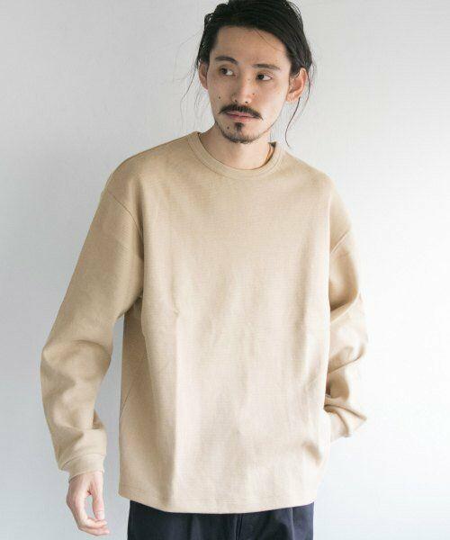URBAN RESEARCH / アーバンリサーチ Tシャツ   ロングスリーブ度詰めワッフルルーズクルーネック(grege)