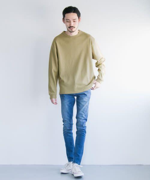 URBAN RESEARCH / アーバンリサーチ Tシャツ   ロングスリーブ度詰めワッフルルーズクルーネック   詳細1
