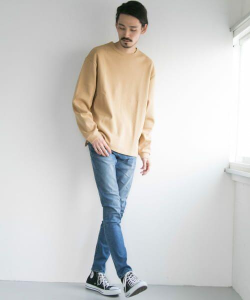 URBAN RESEARCH / アーバンリサーチ Tシャツ   ロングスリーブ度詰めワッフルルーズクルーネック   詳細10