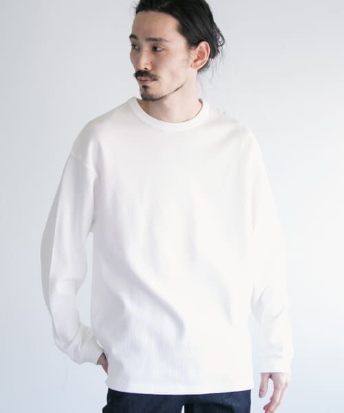 URBAN RESEARCH / アーバンリサーチ Tシャツ   ロングスリーブ度詰めワッフルルーズクルーネック   詳細13