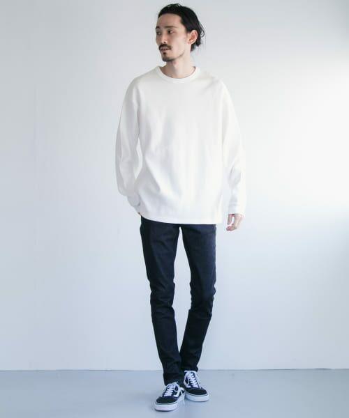 URBAN RESEARCH / アーバンリサーチ Tシャツ   ロングスリーブ度詰めワッフルルーズクルーネック   詳細14
