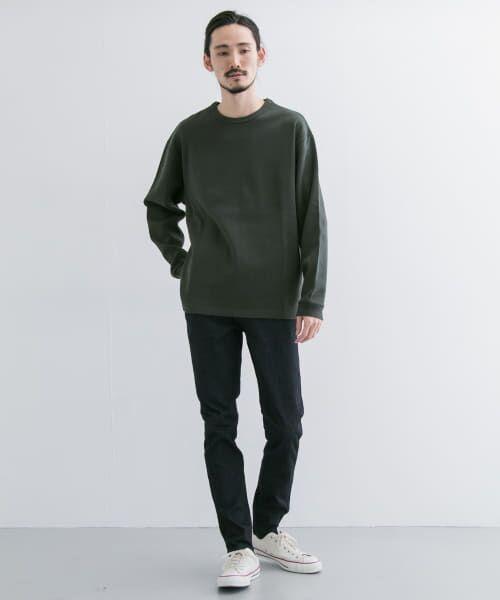 URBAN RESEARCH / アーバンリサーチ Tシャツ   ロングスリーブ度詰めワッフルルーズクルーネック   詳細15