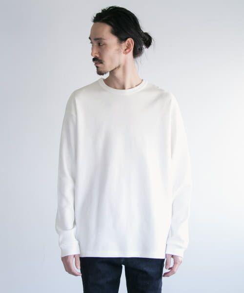 URBAN RESEARCH / アーバンリサーチ Tシャツ   ロングスリーブ度詰めワッフルルーズクルーネック   詳細18