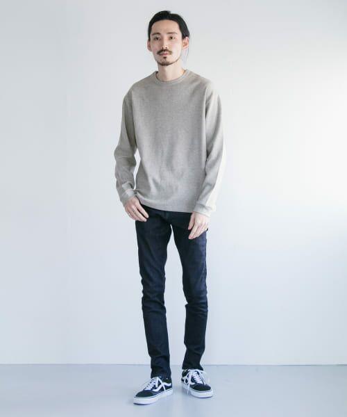 URBAN RESEARCH / アーバンリサーチ Tシャツ   ロングスリーブ度詰めワッフルルーズクルーネック   詳細2