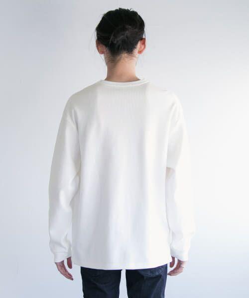 URBAN RESEARCH / アーバンリサーチ Tシャツ   ロングスリーブ度詰めワッフルルーズクルーネック   詳細20