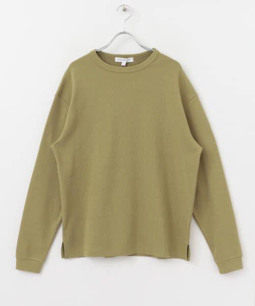 URBAN RESEARCH / アーバンリサーチ Tシャツ   ロングスリーブ度詰めワッフルルーズクルーネック   詳細21
