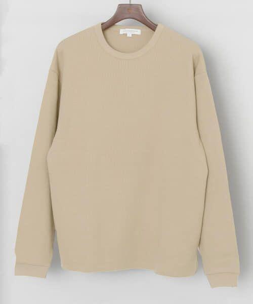 URBAN RESEARCH / アーバンリサーチ Tシャツ   ロングスリーブ度詰めワッフルルーズクルーネック   詳細25