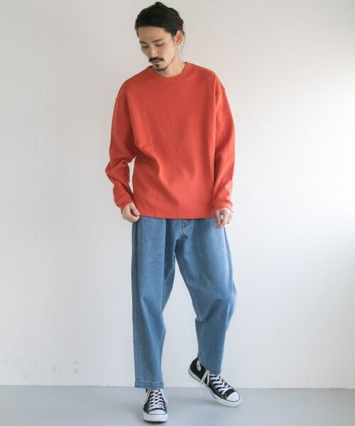 URBAN RESEARCH / アーバンリサーチ Tシャツ   ロングスリーブ度詰めワッフルルーズクルーネック   詳細7