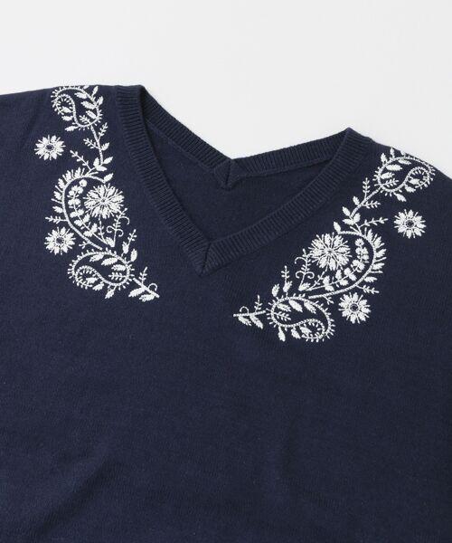 URBAN RESEARCH / アーバンリサーチ ニット・セーター | ペイズリー刺繍ニットプルオーバー | 詳細11