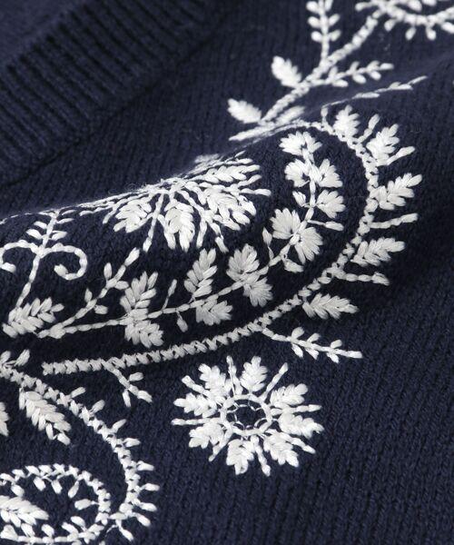 URBAN RESEARCH / アーバンリサーチ ニット・セーター | ペイズリー刺繍ニットプルオーバー | 詳細12
