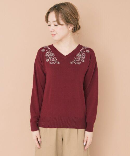 URBAN RESEARCH / アーバンリサーチ ニット・セーター | ペイズリー刺繍ニットプルオーバー | 詳細8