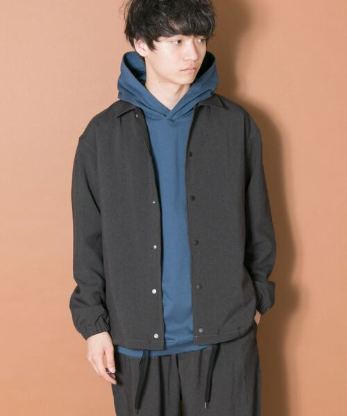URBAN RESEARCH / アーバンリサーチ ブルゾン | URBAN RESEARCH iD WOOLLY COACH JACKET(CHARCOAL)