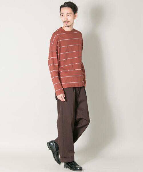 URBAN RESEARCH / アーバンリサーチ Tシャツ | ボーダーバルーンロングスリーブTシャツ | 詳細4