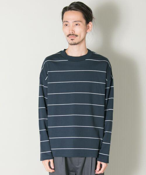 URBAN RESEARCH / アーバンリサーチ Tシャツ | ボーダーバルーンロングスリーブTシャツ | 詳細7