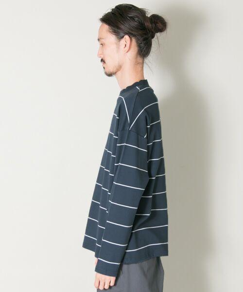 URBAN RESEARCH / アーバンリサーチ Tシャツ | ボーダーバルーンロングスリーブTシャツ | 詳細9