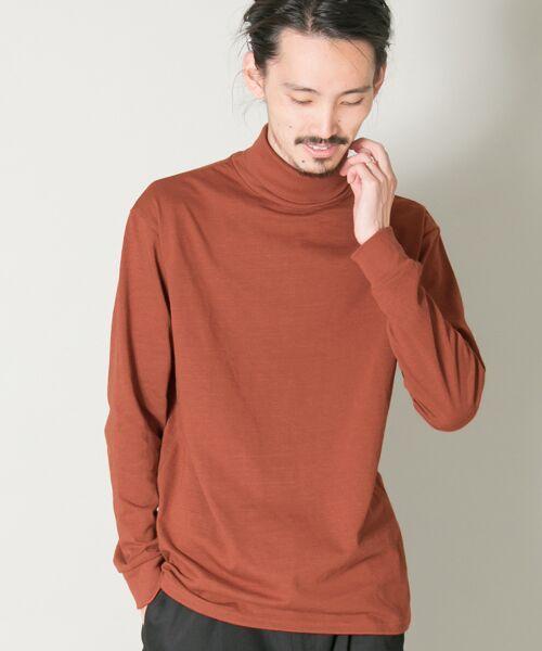 URBAN RESEARCH / アーバンリサーチ Tシャツ | THERMO MAX カットソータートル(テラコッタ)