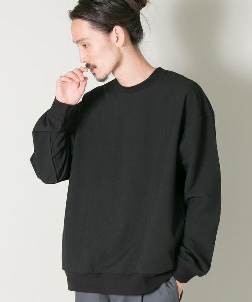 URBAN RESEARCH / アーバンリサーチ Tシャツ | メランジリブロングスリーブTシャツ(black)