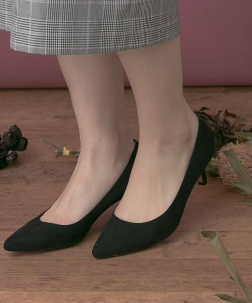URBAN RESEARCH / アーバンリサーチ パンプス | MILLIWM Basic Pointed Pumps(BLACK)
