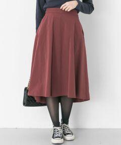 """<strong style=""""font-weight:bold;"""">【毎シーズンご好評のスカートをアップデートさせてリリース】</strong><br>毎回大変ご好評いただくフレアスカートを秋冬らしい生地感とカラー展開で新登場させました。アシンメトリーな裾デザインに広がり過ぎないシルエット、ウエストにたっぷり施されたタックデザインが愛されポイントです◎季節違いでいくつか持っておきたくなる優秀な1枚です。<br><br><strong style=""""font-weight:bold;"""">POINT</strong><br>・ストレスフリーなウエストゴム<br>・コーディネートに鮮度を与えるカラーリング<br>・トレンド関係無く毎年お使いいただけるデザイン<br><br><strong style=""""font-weight:bold;"""">COORDINATE</strong><br>スカートを主役にするならトップスはコンパクトでベーシックがベター。アウターとのバランスに影響しないスカートの丈感はレイヤードに困らずあらゆるアイテムとのレイヤードを可能に◎<br><br>※この商品は、強い摩擦や濡れた状態での摩擦により色が移ることがありますので、ご注意ください。<br>また、長時間日光や蛍光灯にあたると、変色する場合がありますので、ご注意ください。<br>※その他お取り扱いに関しましては、商品に付属のアテンションタグをご確認の上、充分ご注意ください。"""