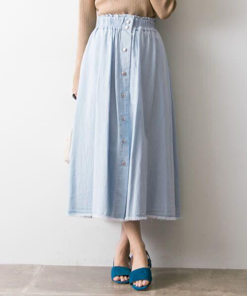 URBAN RESEARCH / アーバンリサーチ スカート | フロント釦デニムスカート | 詳細5