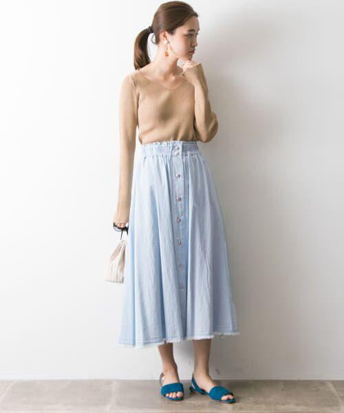 URBAN RESEARCH / アーバンリサーチ スカート | フロント釦デニムスカート | 詳細7