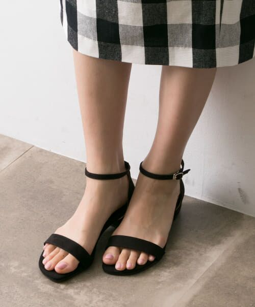 URBAN RESEARCH / アーバンリサーチ サンダル | MILLIWM Flat Strap Sandal(BLACK)