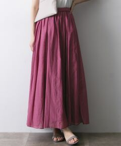 ご好評につき追加予約!シルクの艶感が演出するエフォートレスマキシスカート