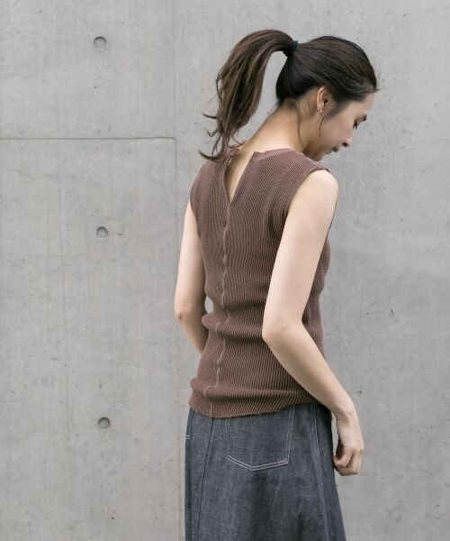 URBAN RESEARCH / アーバンリサーチ Tシャツ | JUBILEE THERMAL NO-SLEEVE T-SHIRTS(別注DBROWN)