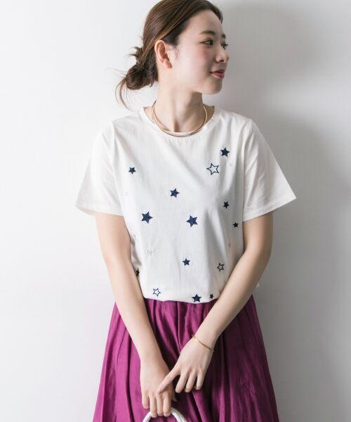 URBAN RESEARCH / アーバンリサーチ Tシャツ   ランダムスター刺繍Tシャツ   詳細2