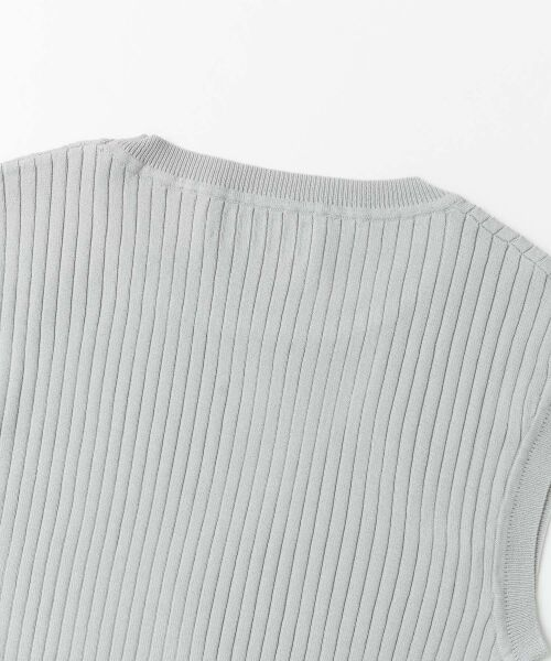 URBAN RESEARCH / アーバンリサーチ ニット・セーター | コンパクトリブニット(ノースリーブ) | 詳細19